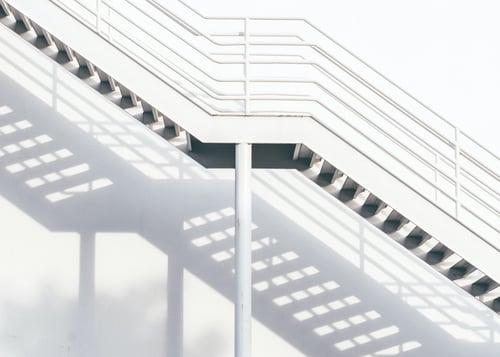A staircase descending